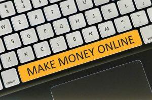 online business - keyboard button written word make money online