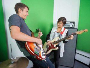 play guitar like a pro - band members playing guitars