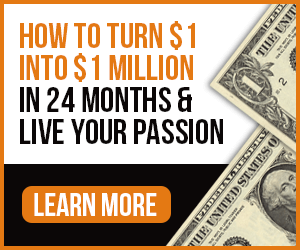 How to turn $1 into $1 million in 24 months and live your passion